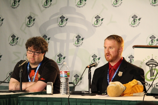 Matt & AAl at their ECCC panel.